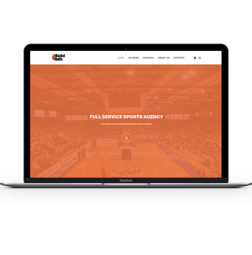 Basketballa Agency web prezentacija