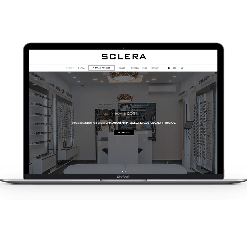 Sclera Web Laptop